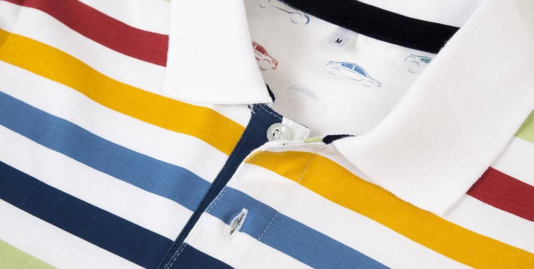 allover bedrucktes Poloshirt