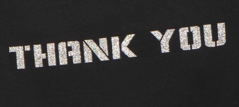 Laserfolie und Flexfolie als Schrift aufgedruckt auf Tshirts, Polos und Hoodies