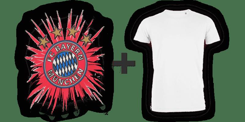 Kombination Bayern Logo und T-Shirt
