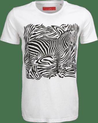 T-Shirt mit Zebra Print