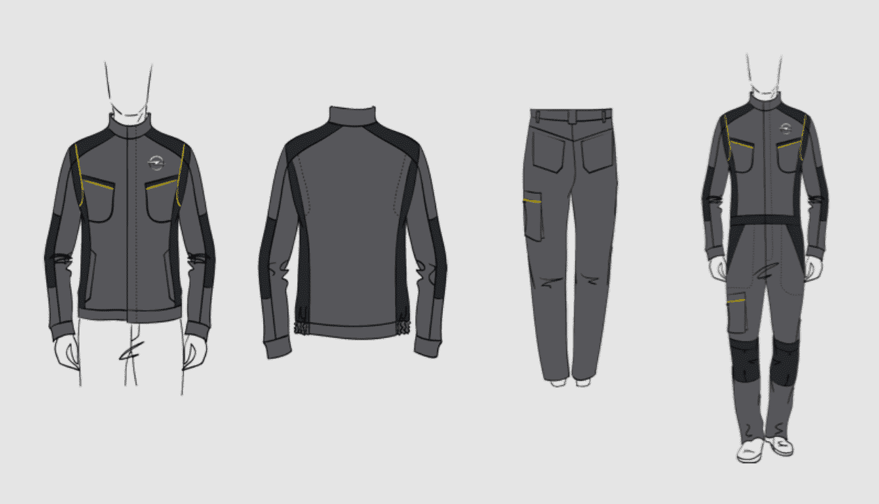 Workwear Skizze Corporate Design