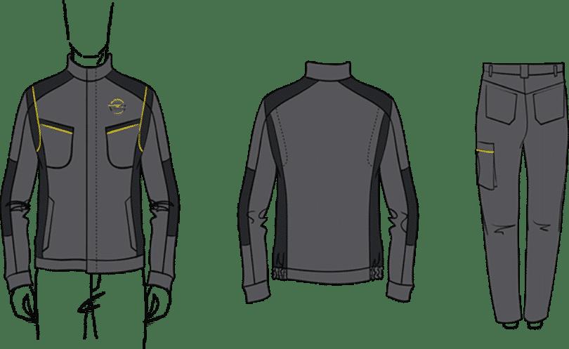 Skizze Opel Workwear Kollektion