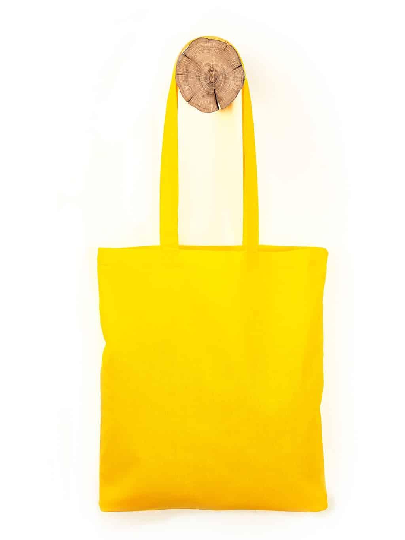 Gelbe Baumwolltasche
