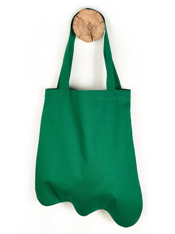 Baumwolltasche Sonderform grün