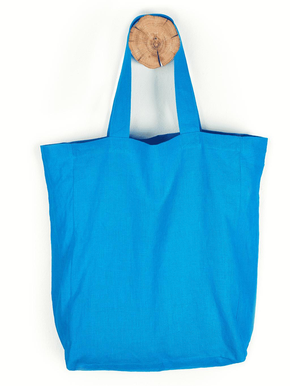 Blaue Baumwolltasche