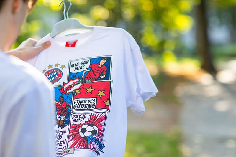FC Bayern T-Shirt Comic