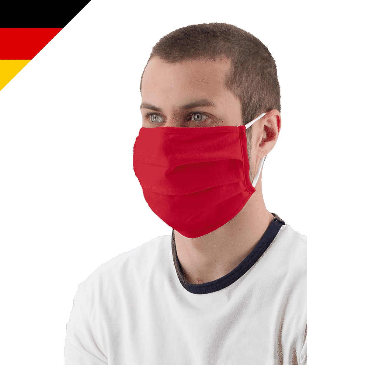 Maske mit Gummi Made in Germany