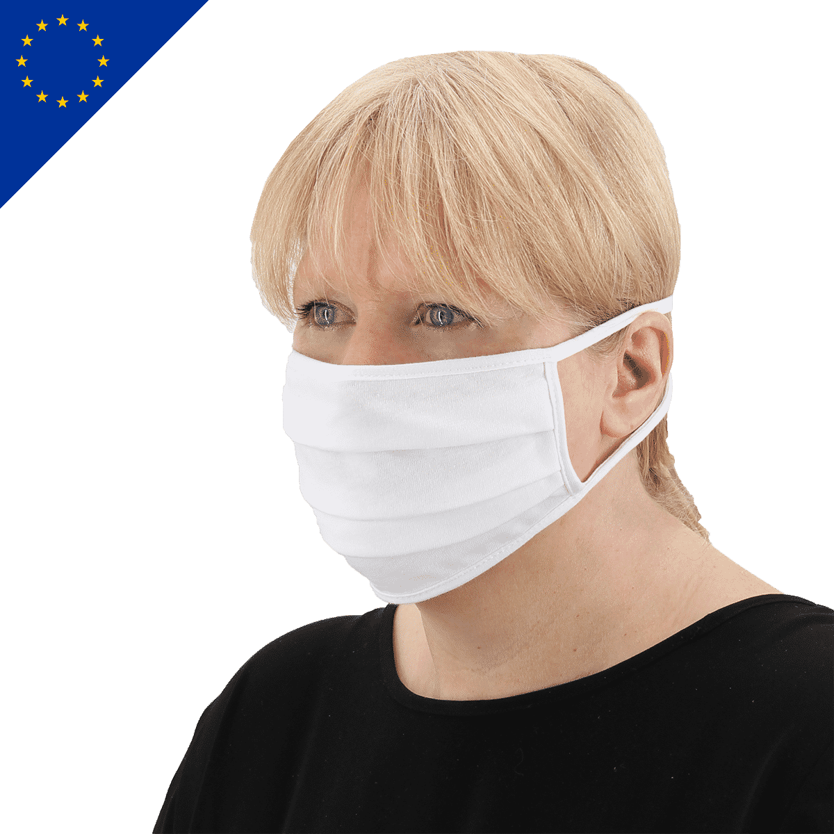 Maske zum Binden Made in EU