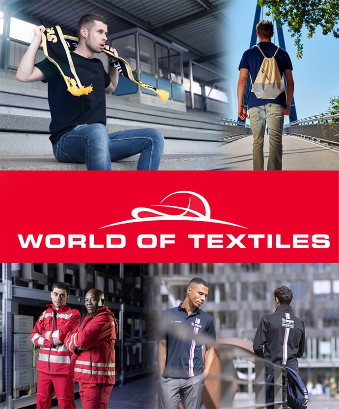 Workwear und Marchendisng von World of Textiles